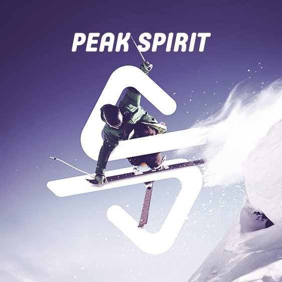On the peak of ski spirit